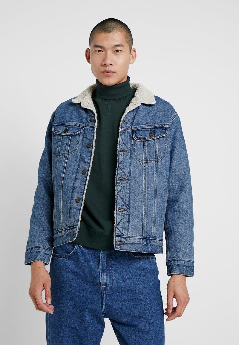 Lee - SHERPA RIDER - Denim jacket - light stone