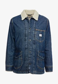 Lee - LONG LOCO SHERPA - Kurtka jeansowa - dark worn - 4
