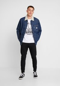 Lee - LONG LOCO SHERPA - Kurtka jeansowa - dark worn - 1