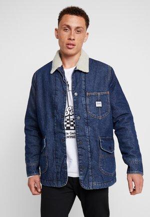 LONG LOCO SHERPA - Jeansjakke - dark worn