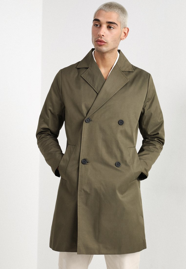Legends - FRANKIE DOUBLE BREASTED COAT - Kappa / rock - olive