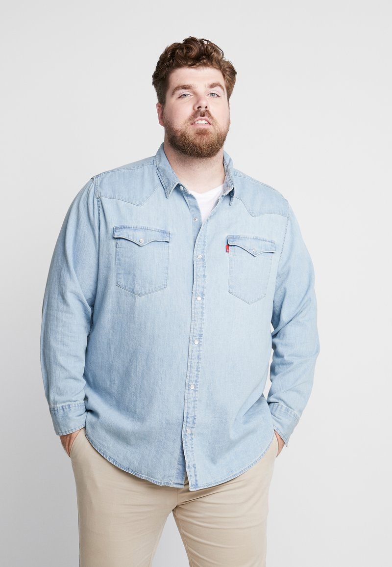 Levi's® Plus - BIG CLASSIC WESTERN - Shirt - red cast stone wash takedown