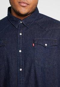Levi's® Plus - BIG CLASSIC WESTERN - Košile - dark blue denim - 4