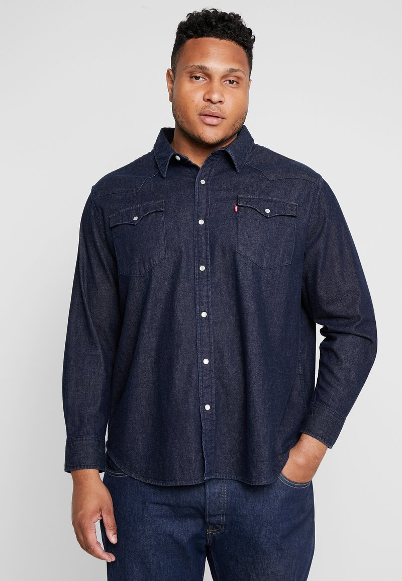 Levi's® Plus - BIG CLASSIC WESTERN - Košile - dark blue denim