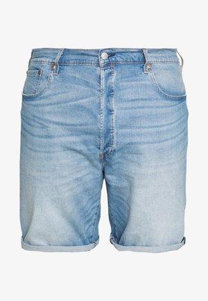501® HEMMED  - Denim shorts - light- blue denim