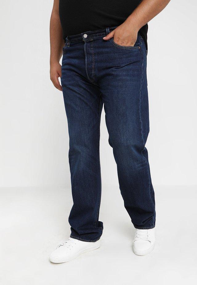 BIG&TALL 501® BUTTON FLY - Relaxed fit -farkut - dark blue denim