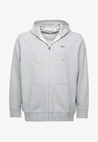 Levi's® Plus - BIG CLASSIC ZIP UP - Felpa aperta - medium grey heather - 4