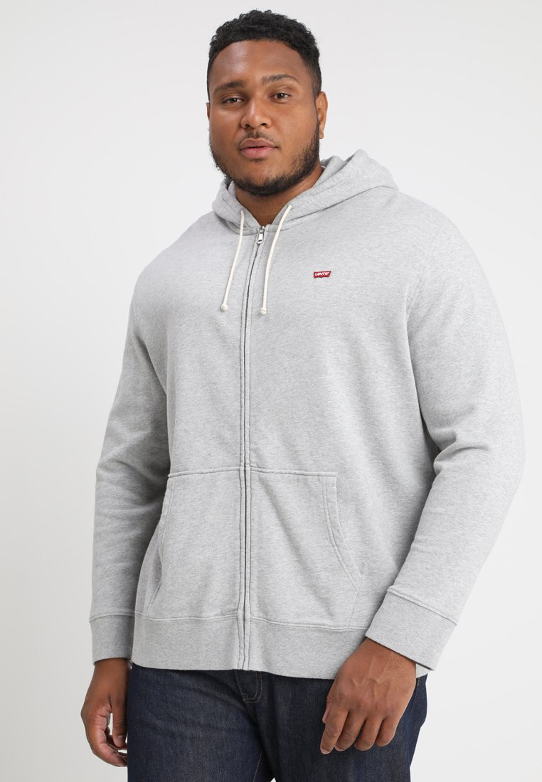 Levi's® Plus - BIG CLASSIC ZIP UP - Felpa aperta - medium grey heather