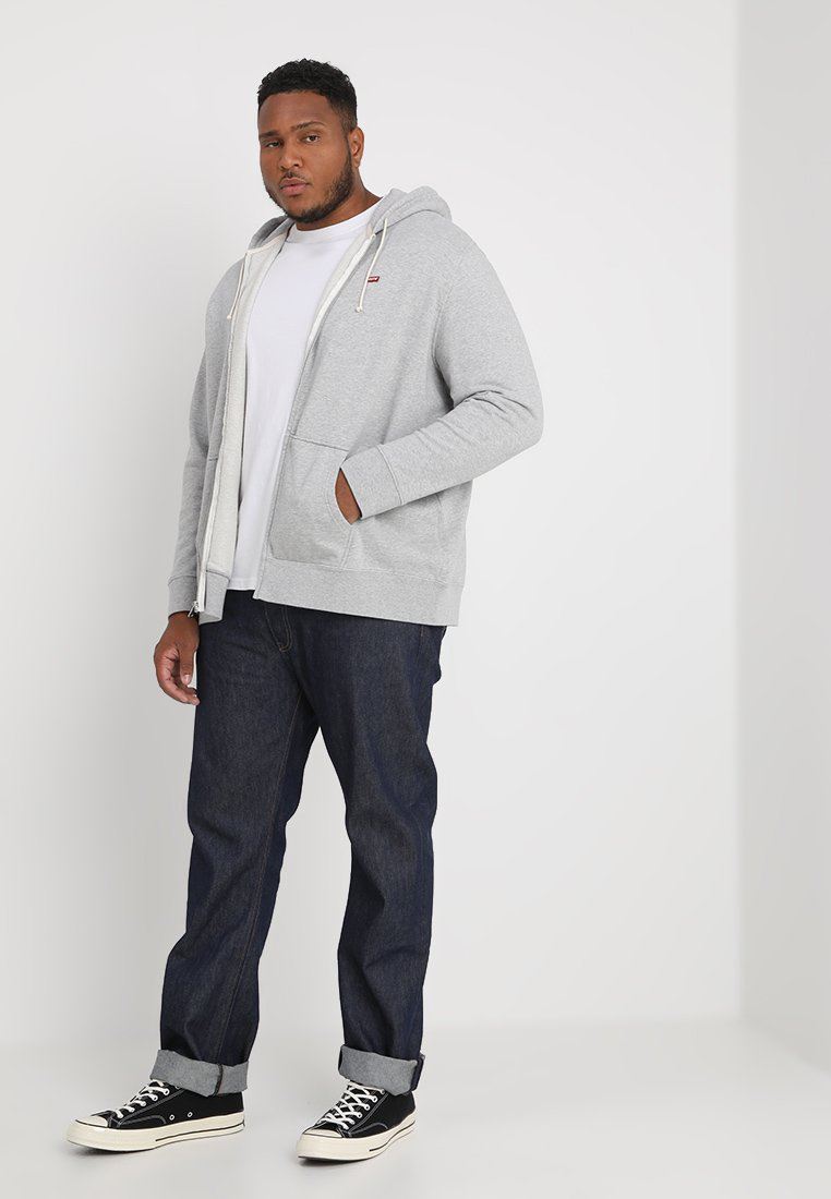 Levi's® Plus Big Classic Zip Up - Huvtröja Med Dragkedja Medium Grey Heather