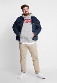 Levi's® Plus - BIG GRAPHIC HOODIE - Hoodie - midtone heather grey - 1