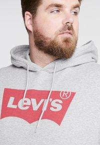 Levi's® Plus - BIG GRAPHIC HOODIE - Hoodie - midtone heather grey - 5