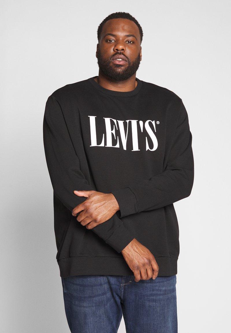 Levi's® Plus - BIG CREW SEASONAL - Sweatshirt - black