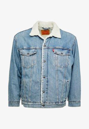 BIG SHERPA TRUCKER - Denim jacket - blue denim
