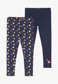 Lemon Beret - SMALL GIRLS 2 PACK - Leggings - Trousers - medieval blue - 4