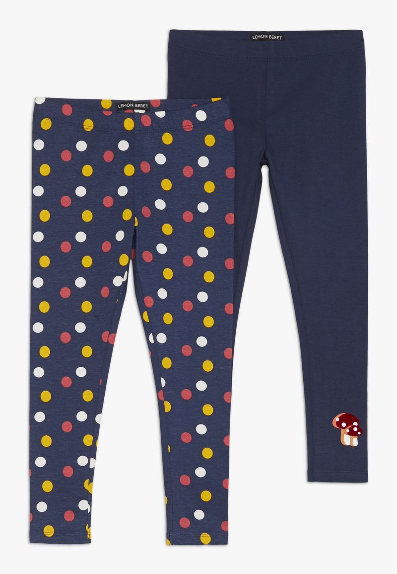 Lemon Beret - SMALL GIRLS 2 PACK - Leggings - Trousers - medieval blue
