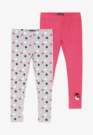 SMALL GIRLS 2 PACK - Legging - grey melange
