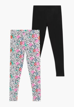 SMALL GIRLS 2 PACK - Leggings - Trousers - black
