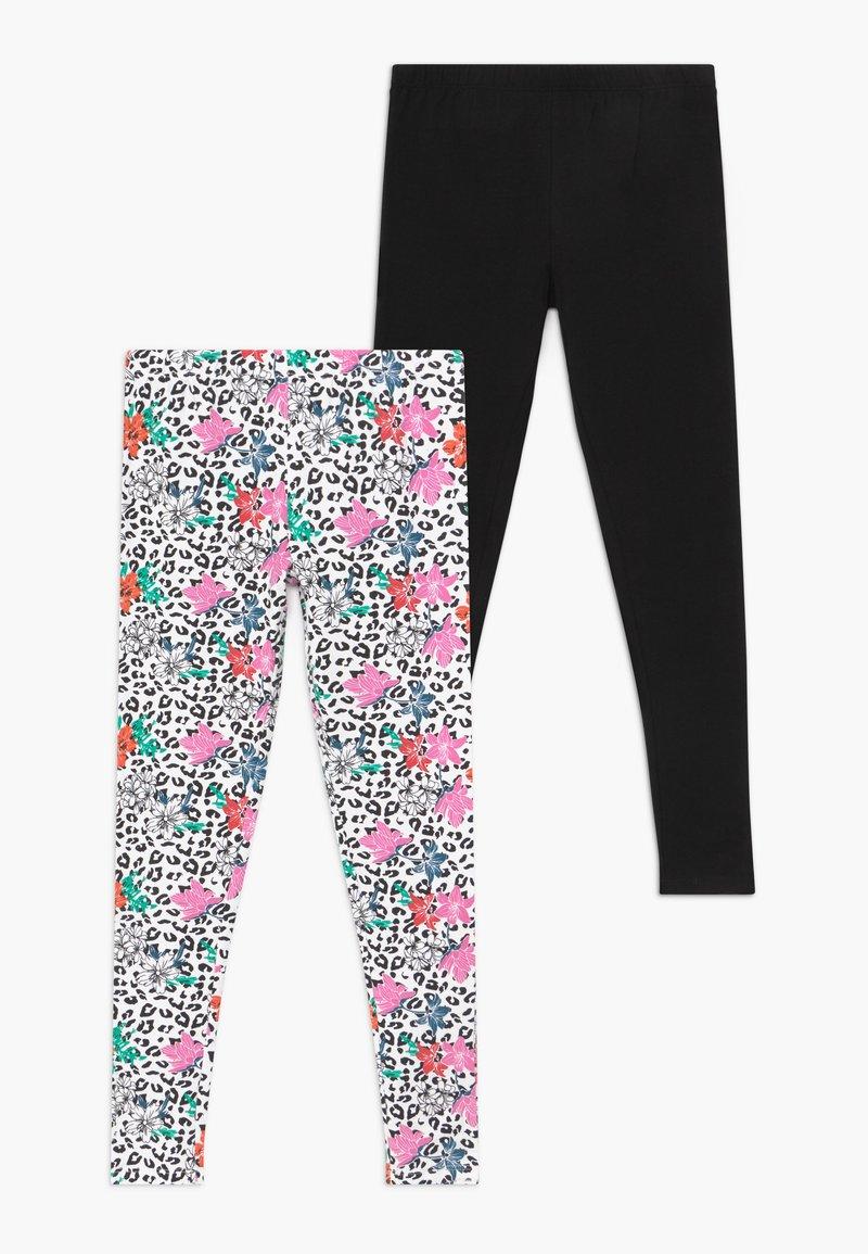 Lemon Beret - SMALL GIRLS 2 PACK - Leggings - Trousers - black