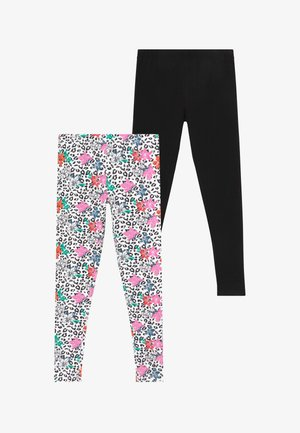 SMALL GIRLS 2 PACK - Leggings - black