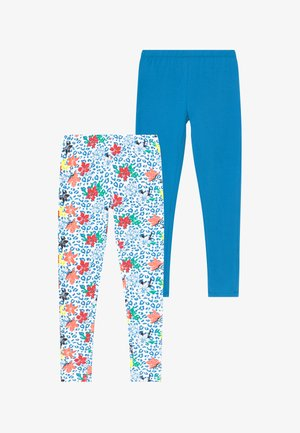 SMALL GIRLS LEGGING 2 PACK - Leggings - Trousers - living coral