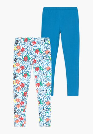 SMALL GIRLS LEGGING 2 PACK - Legging - living coral