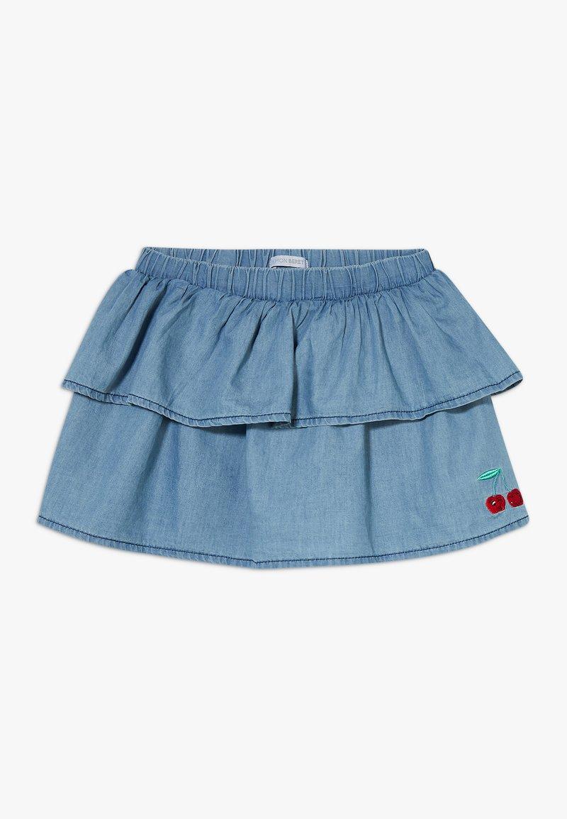 Lemon Beret - SMALL GIRLS SKIRT - Denimová sukně - light blue