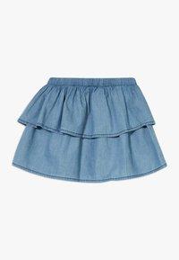 Lemon Beret - SMALL GIRLS SKIRT - Denimová sukně - light blue - 1