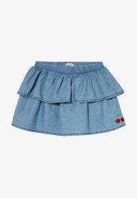 Lemon Beret - SMALL GIRLS SKIRT - Denimová sukně - light blue - 2