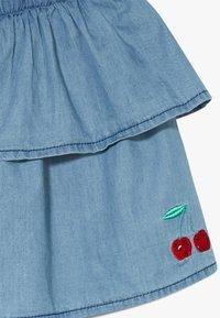 Lemon Beret - SMALL GIRLS SKIRT - Denimová sukně - light blue - 3