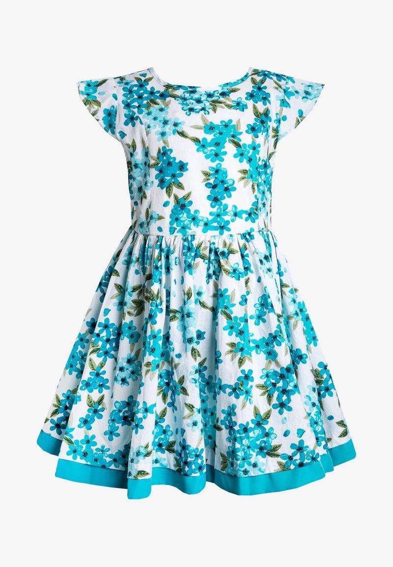 Lemon Beret - SMALL GIRLS DRESS  - Vestido informal - scuba blue