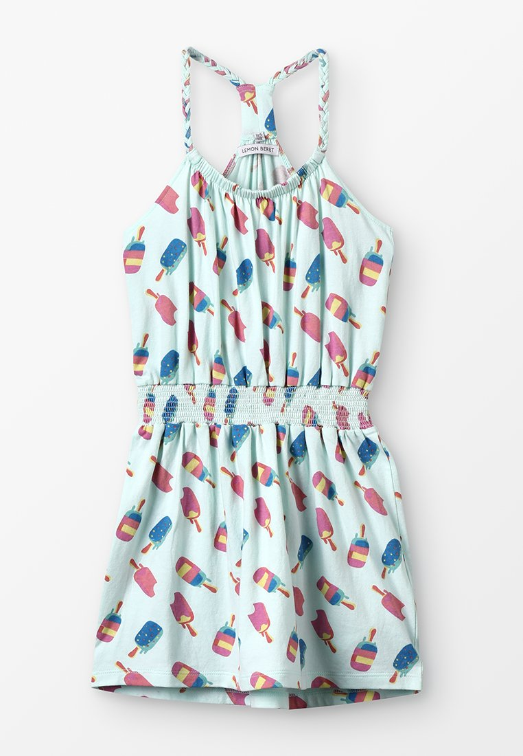 Lemon Beret - SMALL GIRLS DRESS - Sukienka z dżerseju - sooting sea