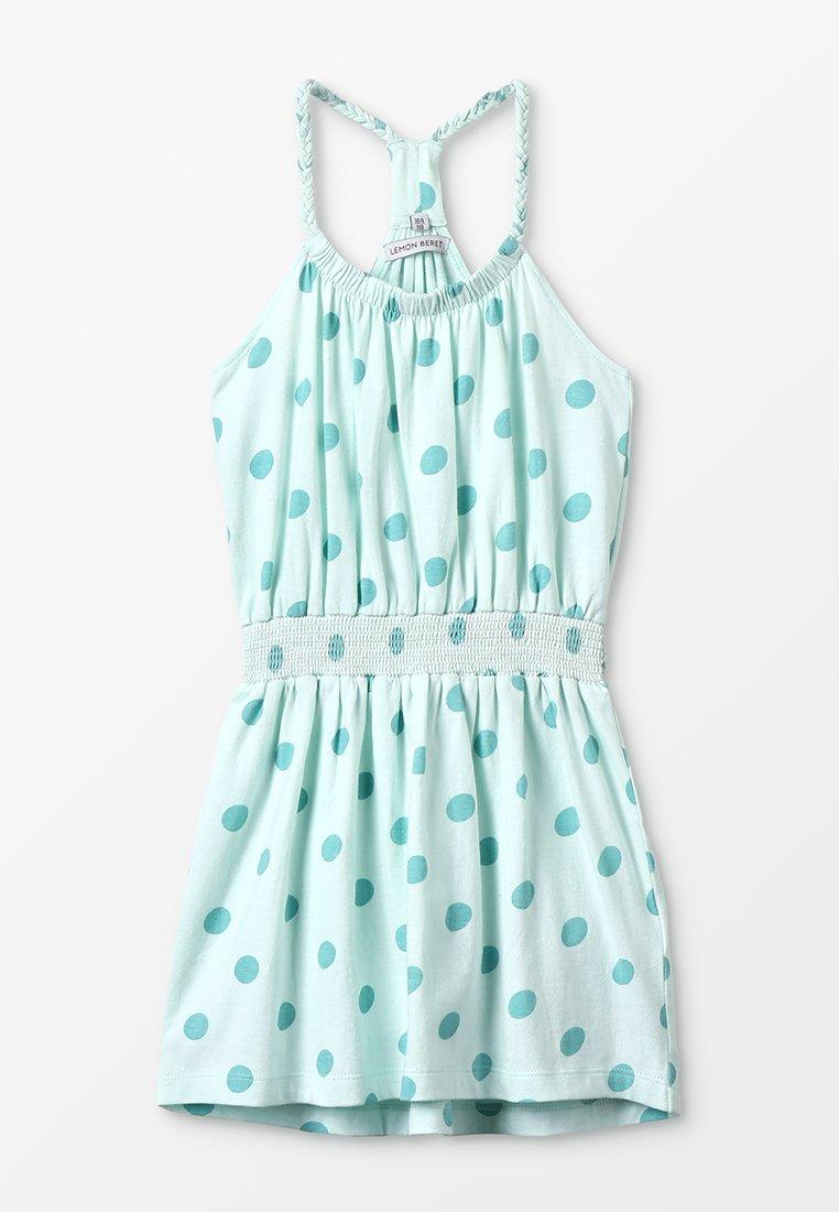 Lemon Beret - SMALL GIRLS DRESS - Jerseyjurk - sooting sea