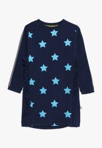 Lemon Beret - SMALL GIRLS DRESS - Day dress - medieval blue - 0