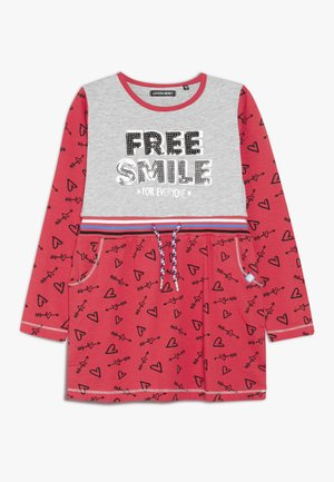 SMALL GIRLS DRESS - Vestito di maglina - red/grey melange