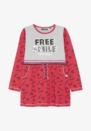SMALL GIRLS DRESS - Jerseyjurk - red/grey melange