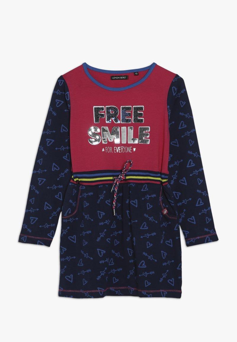 Lemon Beret - SMALL GIRLS DRESS - Jersey dress - rasberry sorbet