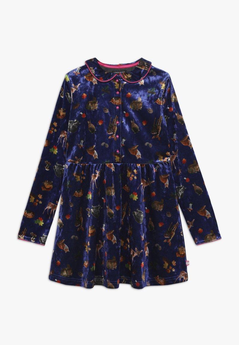 Lemon Beret - SMALL GIRLS DRESS - Day dress - deep ultramarine