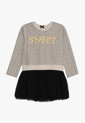 SMALL GIRLS DRESS - Freizeitkleid - beige melange