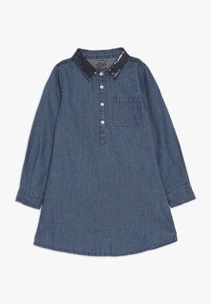 SMALL GIRLS DRESS - Denimové šaty - denim blue