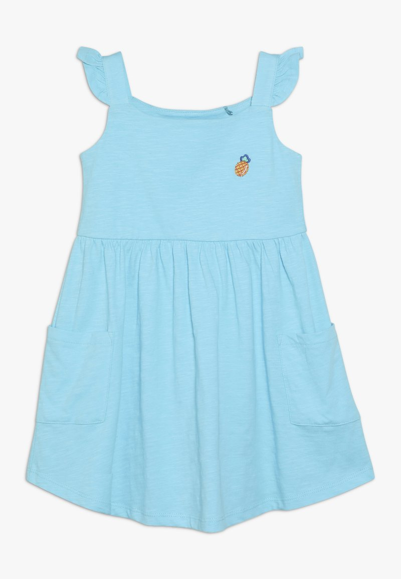 Lemon Beret - SMALL GIRLS DRESS - Jersey dress - turquoise