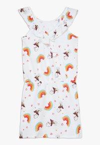 Lemon Beret - SMALL GIRLS DRESS - Vestido ligero - optical white - 1