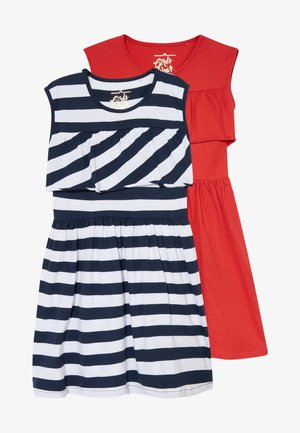 SMALL GIRLS DRESS 2 PACK - Robe en jersey - navy blazer