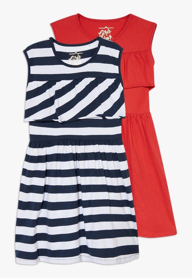 SMALL GIRLS DRESS 2 PACK - Žerzejové šaty - navy blazer