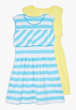 SMALL GIRLS DRESS 2 PACK - Jerseyjurk - bachelor button