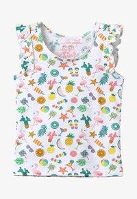 Lemon Beret - SMALL GIRLS  - T-shirt print - optical white - 2