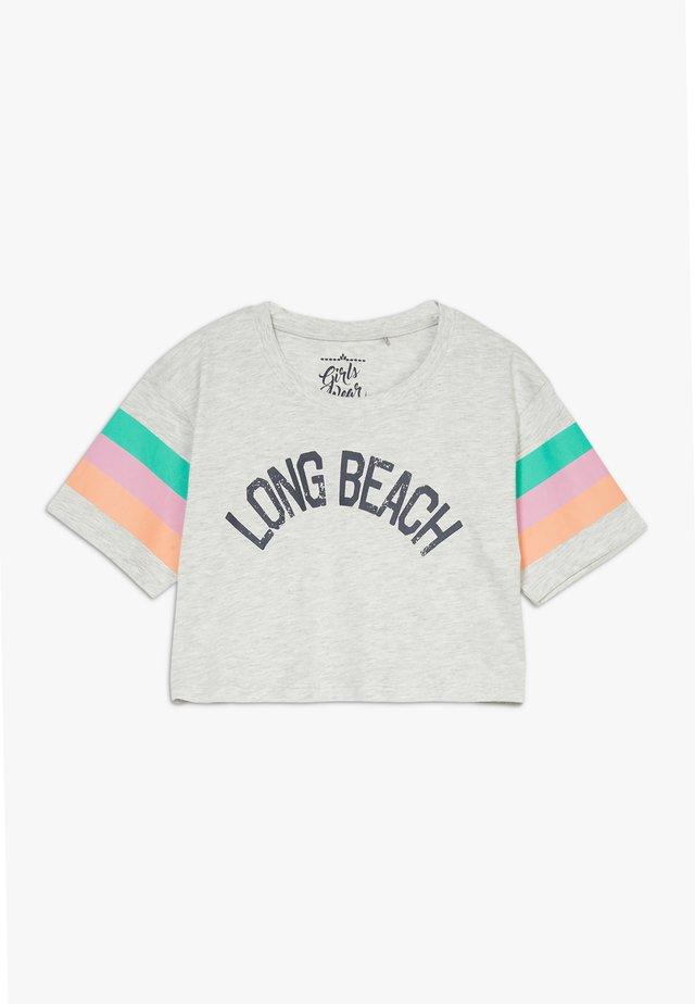 TEEN GIRLS  - T-shirt med print - light grey melange