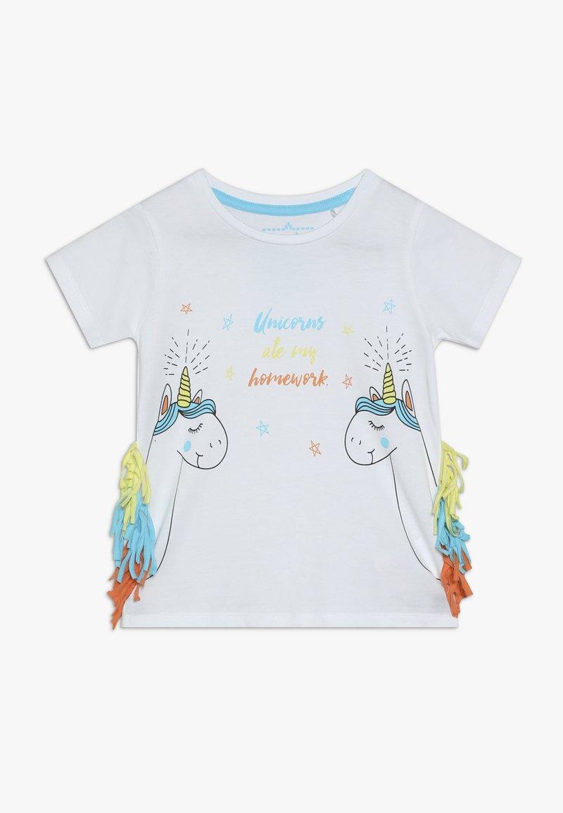 Lemon Beret - SMALL GIRLS - Print T-shirt - optical white