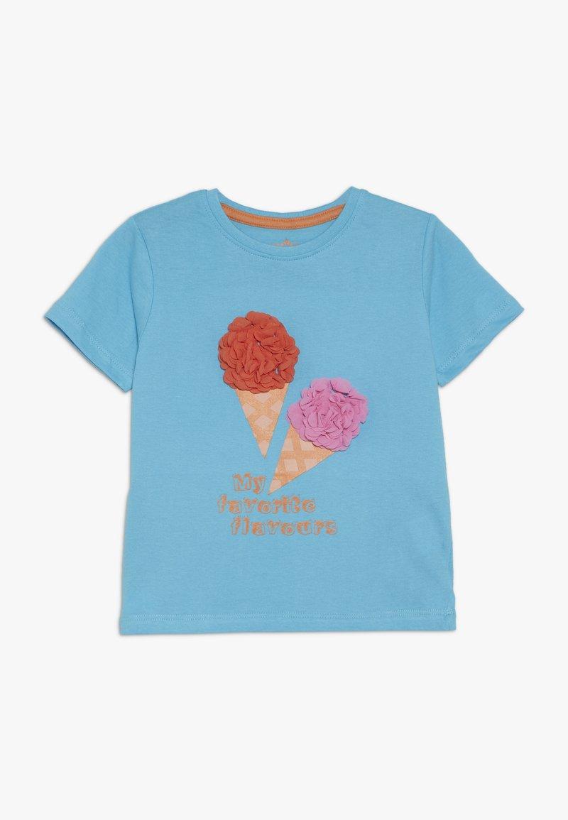 Lemon Beret - Print T-shirt - bachelor button