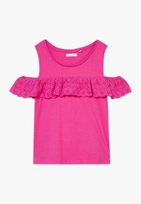 Lemon Beret - TEEN GIRLS - T-shirt print - beetroot purple - 0