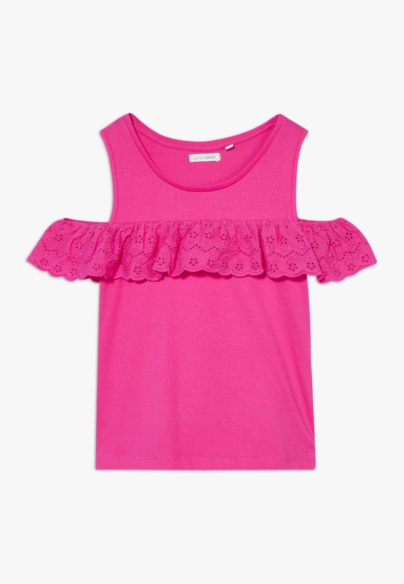 Lemon Beret - TEEN GIRLS - T-shirt print - beetroot purple
